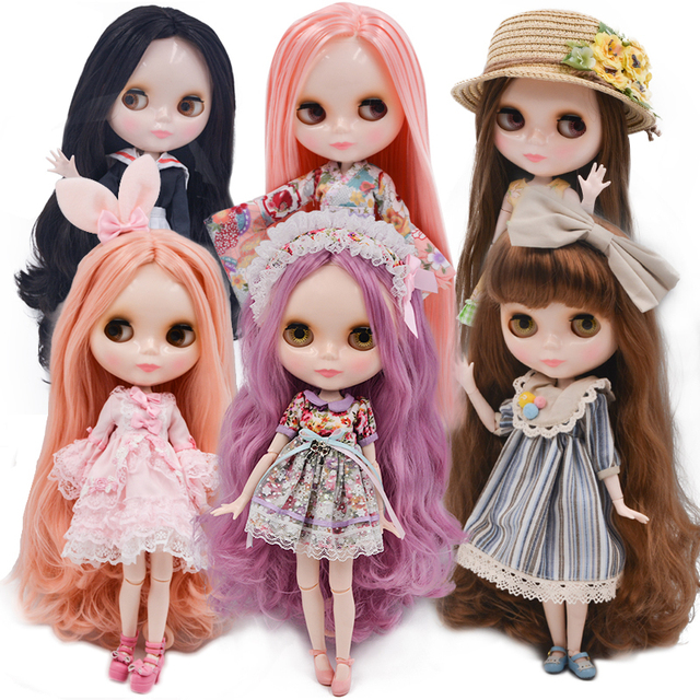 Neo Blyth Doll Customized NBL Shiny Face,1/6 OB24 BJD Ball Jointed Doll Custom Blyth Dolls for Girl, Gift for Collection
