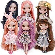 Neo blyth boneca personalizada 1/6 ob24 bjd, boneca de juntas esféricas customizada com rosto brilhante nbl, bonecas blyth para meninas presente para a coleção