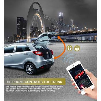 Smartphone Keyless Entry Remote Start for Car Alarm System Central Locking Theft Key Fob Pke Start Stop Button PKE Trunk Opening