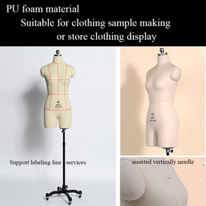 PU foam Sewing mannequin factory direct selling the newest design female torso sewing mannequin without arms