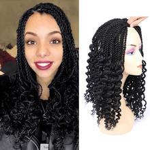 """Mtmei волосы 1"""" новая прическа для сенегальских вьющихся волос с длинными вьющимися концами богиня искусственный Locs конец для плетения волос расширения"""
