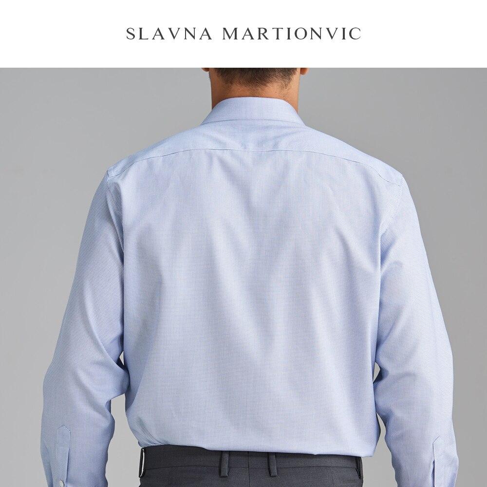Slavna Martinovic Herfst En Winter Mannen Lange Mouwen Zakelijke Professionele Werk Shirt Flanellen Overhemd Mannen - 2