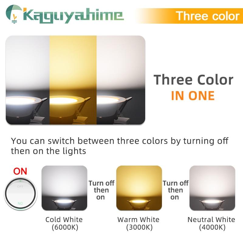=(K)= LED Downlight Natural White/Warm/Cold 5w 3w LED Spot Light Indoor Recessed Lamp AC 220V LED Spotlight Round Panel Lamp 4