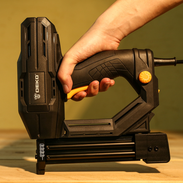 DEKO DKET02  Electric Tacker and Stapler Furniture Staple Gun for Frame with Staples & Woodworking Tool 2