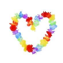 Hawaje wieniec świąteczny wakacje wesele plaża urodziny szyi girlanda dekoracyjna sztuczny wianek stroik zaopatrzenie firm