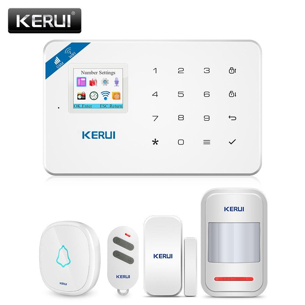KERUI W18 Alarm System für Home Security Alarm Wohn Motion Sensor APP Steuerung Smart GSM WIFI Einbrecher Alarm System Kit