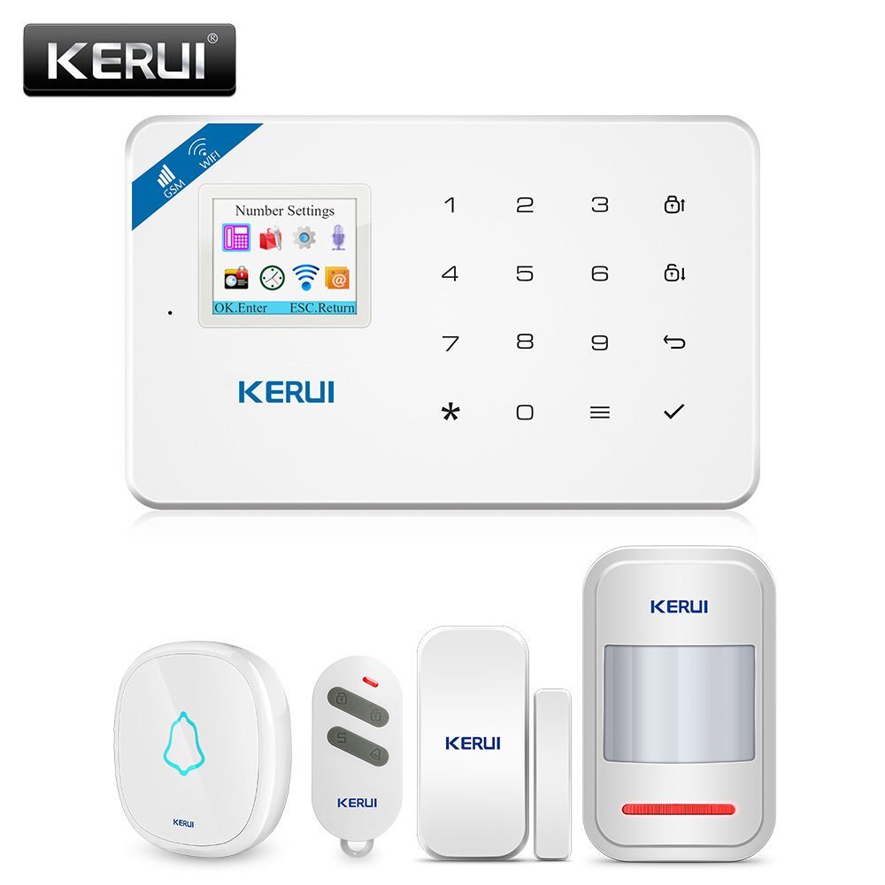 KERUI W18 <font><b>Alarm</b></font> <font><b>System</b></font> for <font><b>Home</b></font> Security <font><b>Alarm</b></font> Residential Motion Sensor APP Control Smart GSM WIFI <font><b>Burglar</b></font> <font><b>Alarm</b></font> <font><b>System</b></font> Kit image