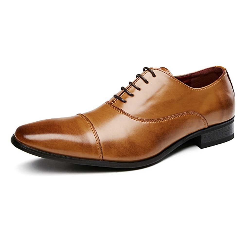 Mode bout pointu affaires mariage en cuir verni Oxford chaussures hommes formel pour hommes chaussures habillées 7.11