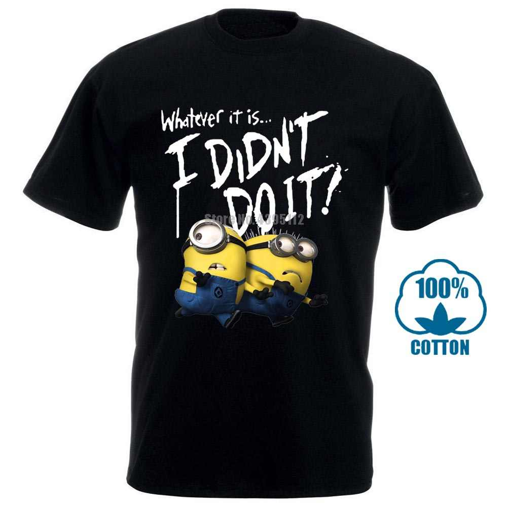 Minion camiseta para hombre I don't Do It divertido gráfico impreso superior camiseta algodón manga corta Camiseta de talla grande S 3Xl