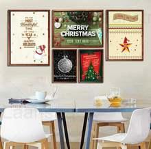 """Плакат в скандинавском стиле с надписью """"merry christmas"""""""