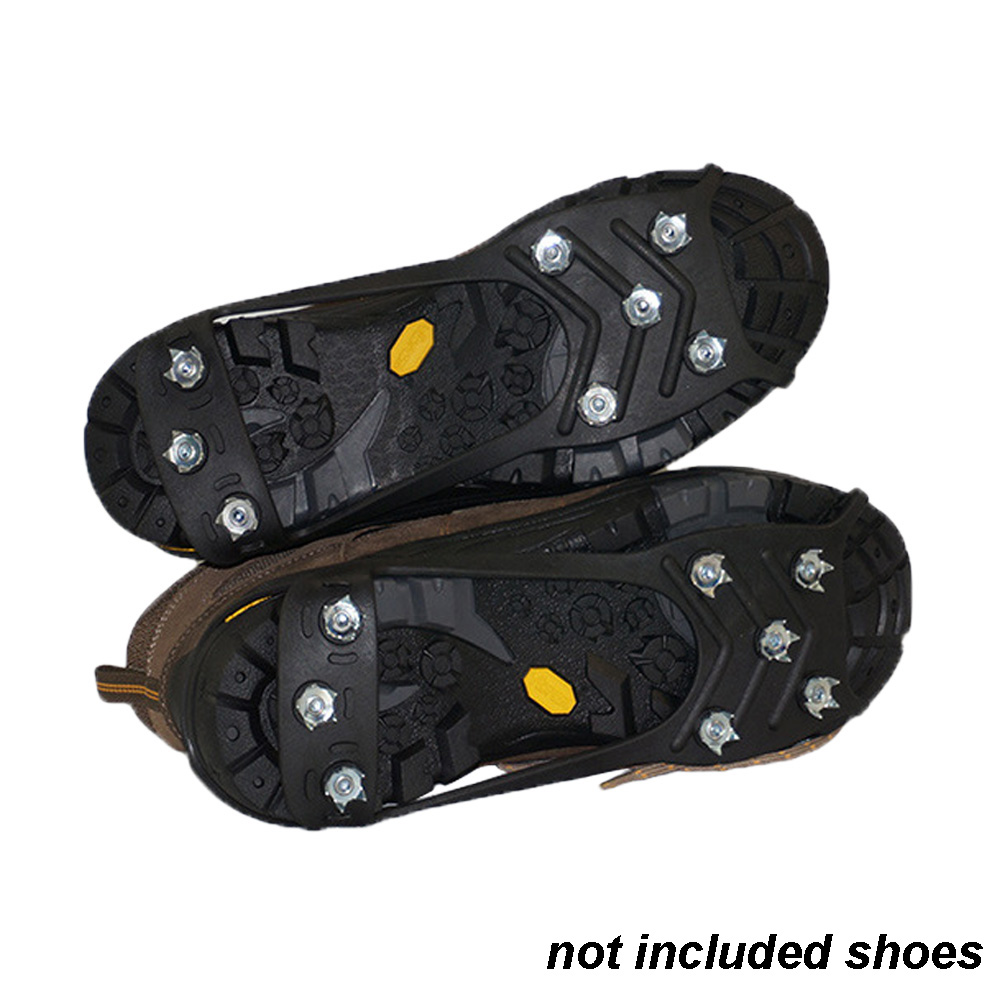8 Teeth Overshoe Cleats Climbing Outdoor Traction Ice Gripper Spikes Hiking Anti-slip Crampons Traction Ice Stud Shoes Grip