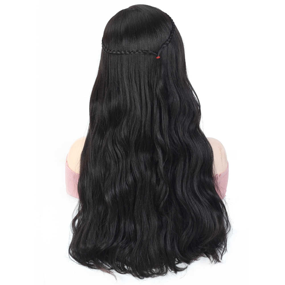 X-TRESS Vlechten Pruik Natuurlijke Lichaam Golvend Lace Front Hittebestendige Synthetische Pruik Blonde/Wijn Rood/Natuurlijke Blacktrendy Schoonheid haar