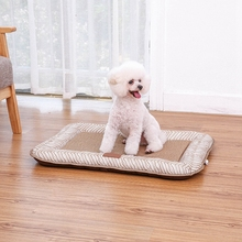 Pet Cushion Silk Summer Cooling Puppy Cats Oxford Beds All Seasons General Dog Bed Mat For Small Large Dogs Pad Cama Perro