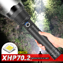 xhp70.2 most powerful led flashlight use 18650 or 26650 battery usb rechargeable torch