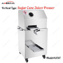 LFS17/LFS17T электрическая Коммерческая соковыжималка для сахарного тростника машина из нержавеющей стали соковыжималка для сахарного