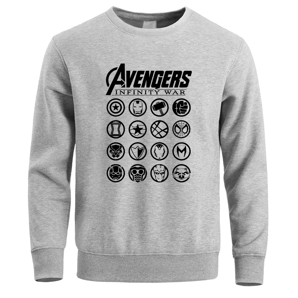 The Avengers Superhero Hoodies Sweatshirt Hoodie Men Iron Man Captain America Thor Hulk Black Widow Pullover Warm Crewneck Hoody