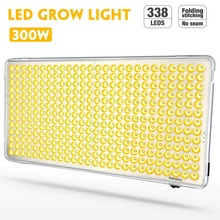 300W LED Grow Lights 338 LEDs Full Spectrum Phyto Lamp Hydroponic Plant Growth Lighting for Indoor Plant Flower Greenhouse
