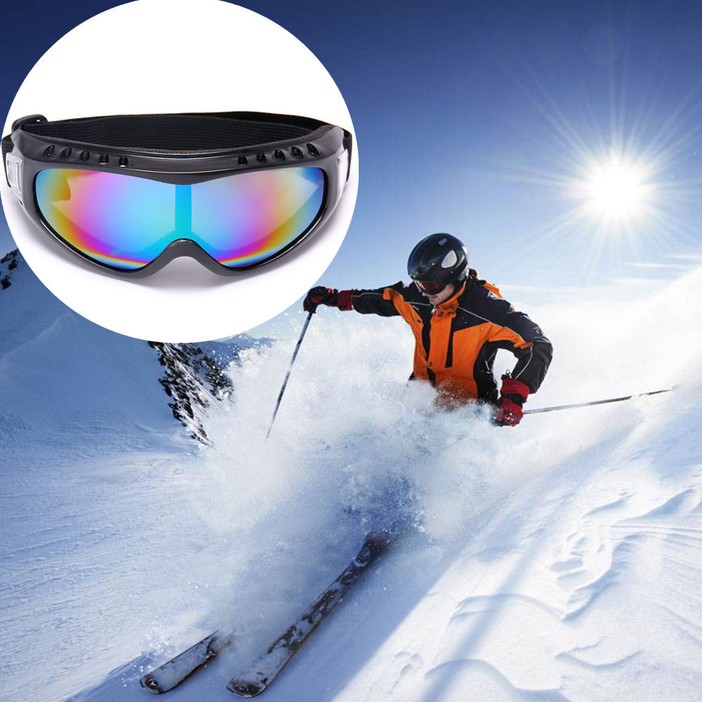1 pc of Glasses skiing Windproof  Snowboard Ski Goggles Gear Skiing Sport Adult Glasses Anti-fog UV Dual Lens outdoor sports