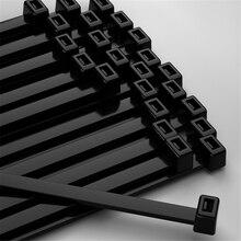6x250mm Self locking Nylon Cable Zip Ties 100pcs Plastic Cable Zip Tie Approved Loop Wrap Bundle Ties Black & White