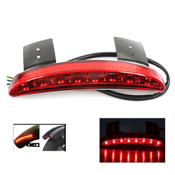 Halley światła motocyklowe tylny błotnik krawędzi czerwona LED hamulec światło tylne moto dla Harley Touring Sportster XL 883 1200 na