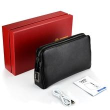 Fingerprint-Bags Wallets Hand-Bag Male for Men Long-Money Mobile-Phone-Pouch Anti-Theft-Purses