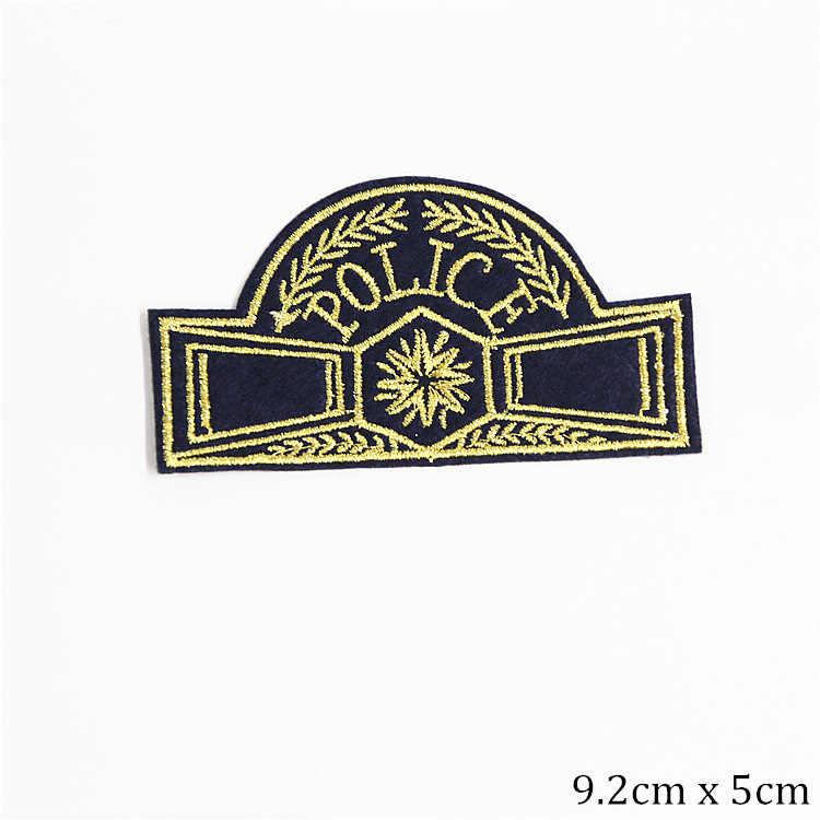 แขนป้ายแพทช์ปักสำหรับเสื้อผ้า Fine ตำรวจทหารเหล็กบนสติ๊กเกอร์เรือ Anchor รูปร่าง Appliques Man Parches