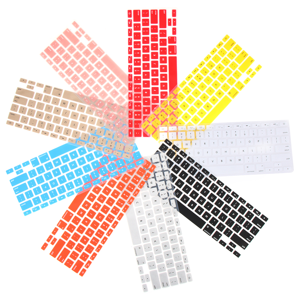 """Colorful Soft Silicone Keyboard Cover Sticker Film Protector For Apple Macbook Pro Air 13"""" 15"""" 17"""" Computer Accessories-2"""