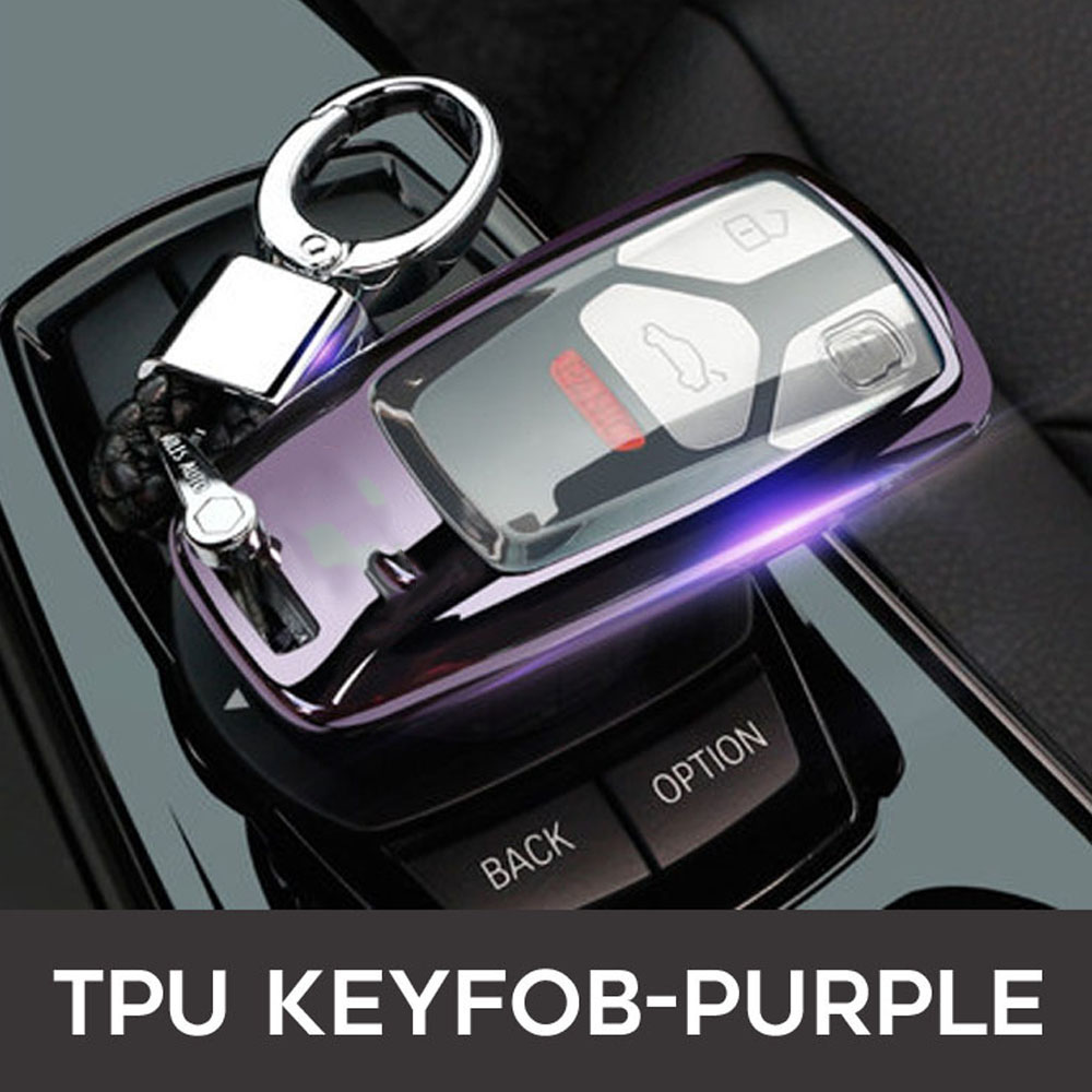 Image 3 - 2019 Car Key Fob Case Cover For AUDI A4 A4L A5 B9 Q5 Q7 S4 S5 S7 TT TTS 8S 2016 2017 B9 car styling full protect TPUKey Case for Car   -