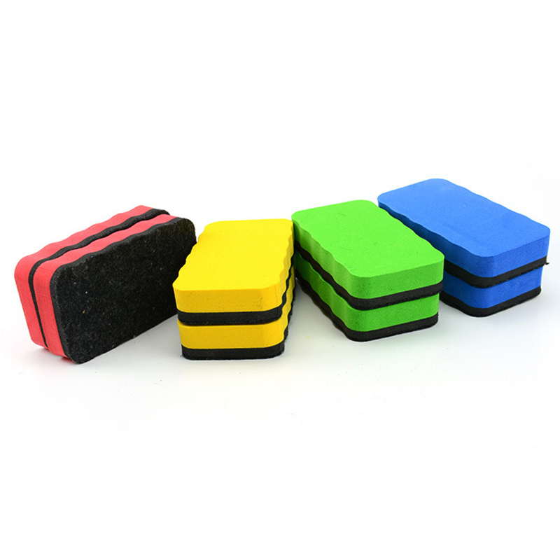 1 PCS Random Sponge Erasable Whiteboard Eraser For Magnetic White Board Colored Marker Chalk Erasers Kawaii Blackboard Cleaner