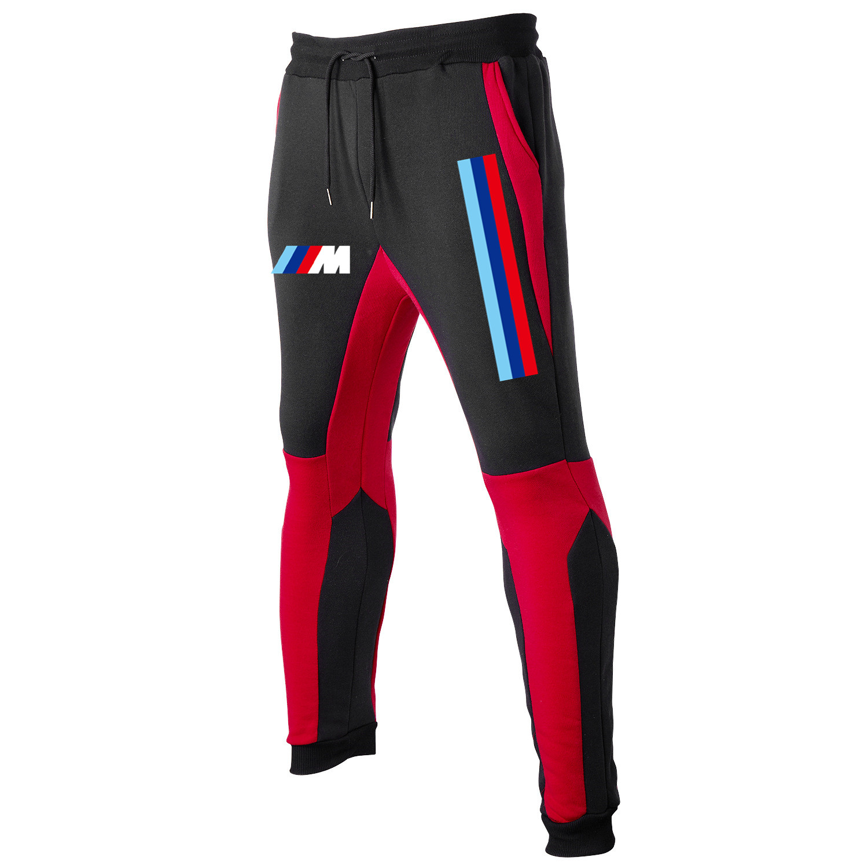Осень и зима 2021 Мужская спортивная одежда для тренажерного зала Брюки BMW спортивный бренд Джоггеры для фитнеса хлопковые мужские брюки