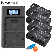 PALO 4PCS LP-E6 LPE6 LP E6 E6N Camera Battery + LCD Dual Charger For Canon EOS 5DS R 5D Mark II 5D Mark III 6D 7D 80D EOS 5DS R все цены