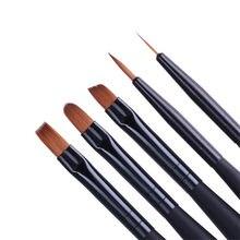 1Pc czarna rękojeść żel rysunek szczotka do paznokci liniowej malowanie pióro akrylowe paznokci artystyczny Manicure żel do paznokci UV narzędzie