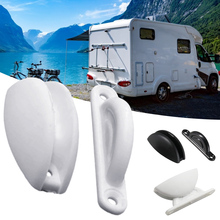 RV Door Retainer Catch Kit Heavy-Duty Nylon Door Stopper for RV Boat Caravan Camper Stopper Clip Motorhome Accessories