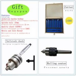 Image 2 - Motor sin escobillas, todos los engranajes de Metal, Mini torno, Cnc, máquina de torneado, pantalla Digital, agujero de husillo de 32mm