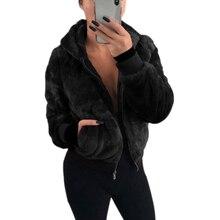 NIBESSER/Новинка года; зимняя верхняя одежда из искусственного лисьего меха; Большой размер; женский кардиган на молнии с длинными рукавами; повседневная куртка Женское пальто