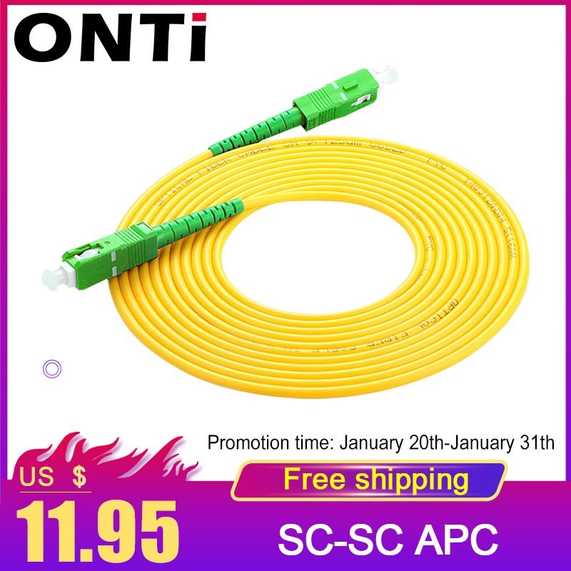 SC/APC Fiber Optic Patch Cord Cable SC-SC 1/3/5/10/20/30M Jumper Single Mode Simplex 3mm Optical Fibra Optica FTTH 10PCS