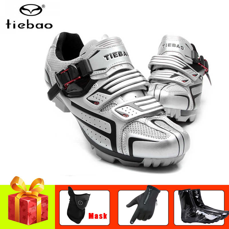 TIEBAO mtb cycling shoes men women bicycle gloves mountain bike sneakers winter covers self-locking superstar mtb bike shoes