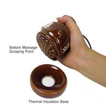 Ceramic pot meridian health beauty warm moxibustion electric