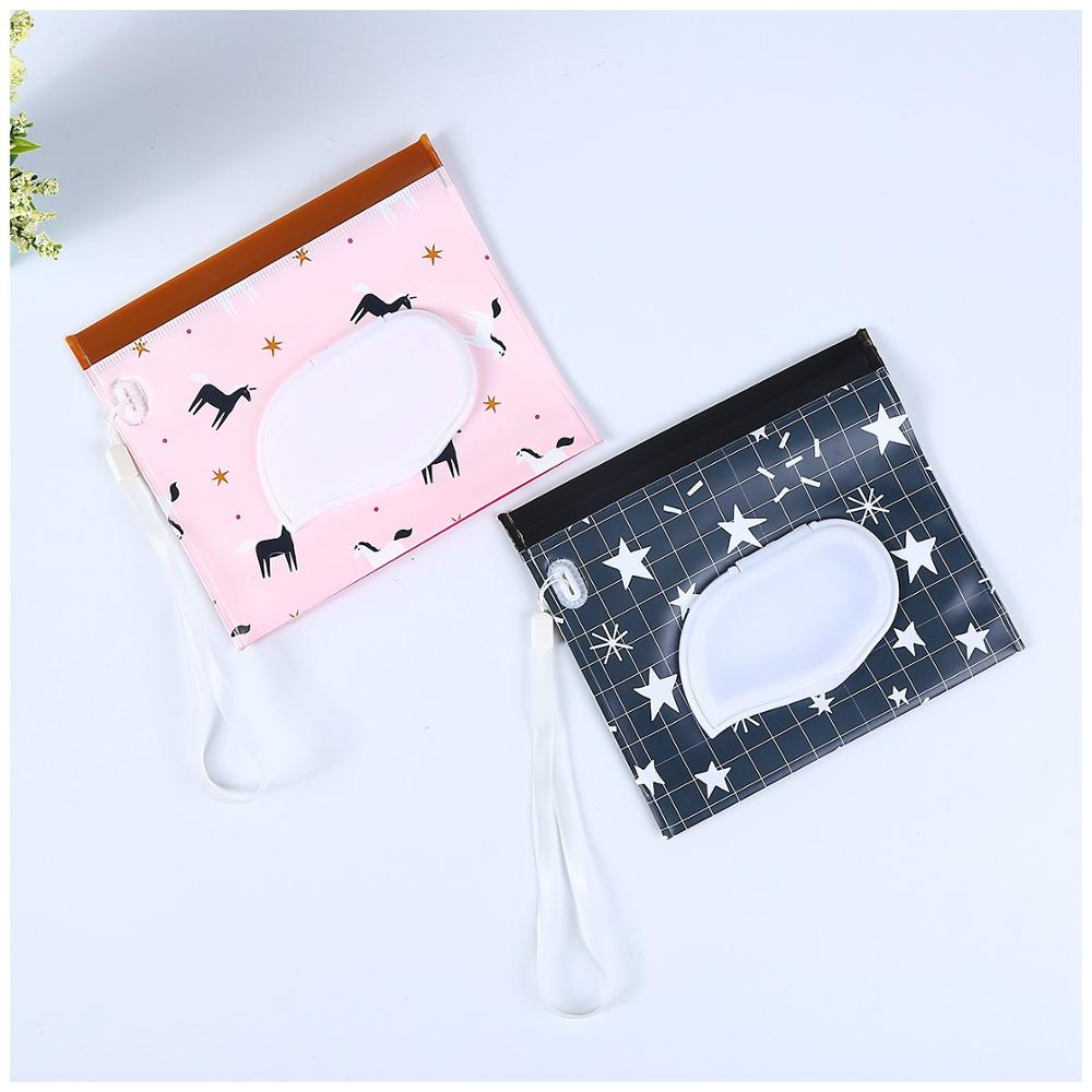 New Baby Reusable Wet Wipes Bag With Cover Baby Outdoor Travel Portable Wet Wipes Bag EVA Clean Wipes Container For Baby Care