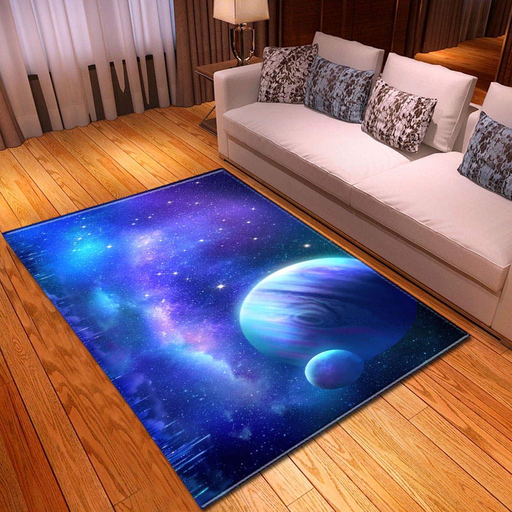 Nordic Children Bedside Area Rugs 3D Universe Galaxy Space Carpets Home Decorative Dining Table Rugs And Carpets For Living Room