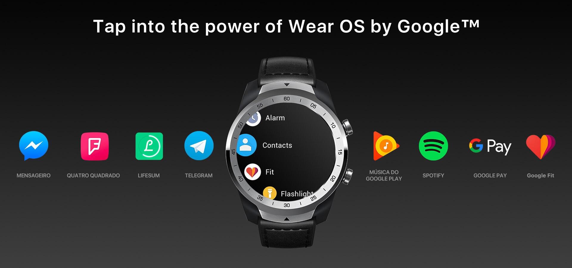 TicWatch Pro Prata Relógio Em Camadas de