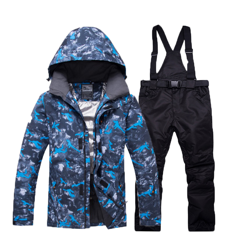 Warm Winter Ski Suit  Snow Skiing Clothes Set Outdoor Sport Thermal Waterproof Windproof Snowboard Jackets And Pants