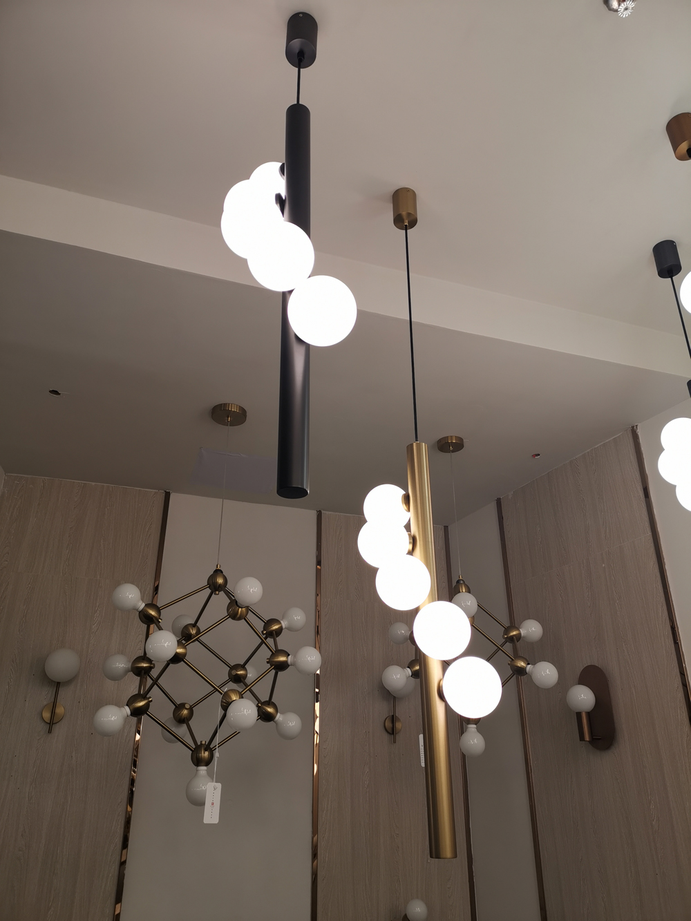 new modern chandelier lighting  LED glass  lamp AC110V 220v living room decoration bar lights