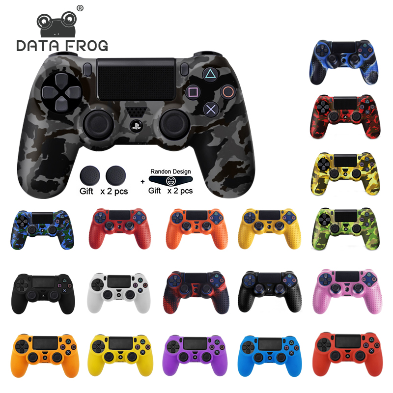 DATA FROG For SONY Playstation 4 PS4 Controller Protection Case Soft Silicone Gel Rubber Skin Cover For PS4 Pro Slim Gamepad|Cases| |  - title=