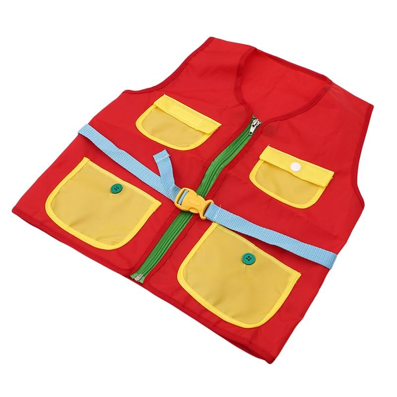 Монтессори учитесь одеваться многозадачный жилет застежка-молния Кнопка Пряжка Волшебная наклейка Дети занят тихий Развивающие игрушки