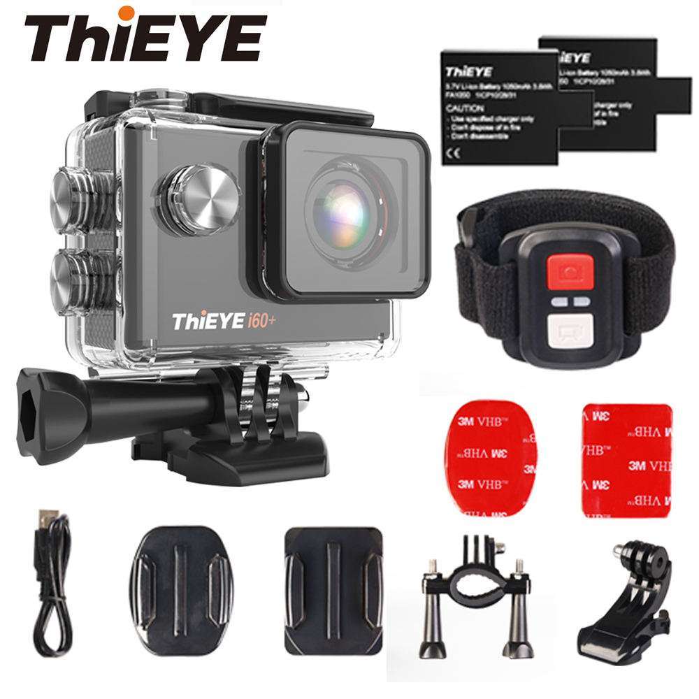ThiEYE Action Kamera 4K i60 Sport Cam 60M Wasserdicht Ultra HD 30fps WiFi 2.0