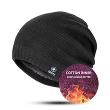 Высокое качество модные зимние шляпы для мужчин и женщин плюс бархат утолщение теплый вязаный бини мужские шапки Skullies чепчик унисекс