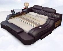 Tatami yatak çift kişilik yatak çift kişilik yatak 2 m 2.2 m 2.4 ana yatak odası japon modern basit genişletme yatak odası deri yatak