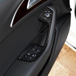 A6 c7 a7 fibra de carbono, adequado para audi a6 c7 a7 2012- 2018, partes de carro 3d, decoração interior do carro, porta e janela painel de controle do interruptor