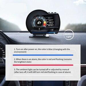 Image 4 - Nieuwste OBD2 + Gps Smart Auto Hud Head Up Display Auto Display Gauge Digitale Kilometerteller Security Alarm Water & Olie temp Rpm